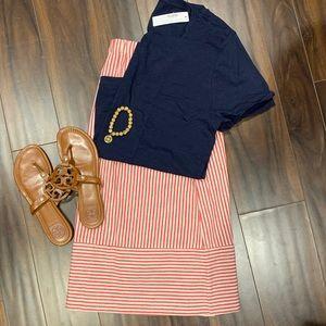 J Crew skirt and t shirt Xxl